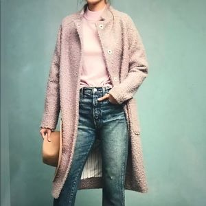 New Anthropologie Boucle Coat XS in Lavender